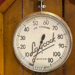 Automobilia Laycock Air Pressure Gauge Mounted In Wooden Unit #2081