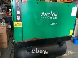 Avelair 10LER15 Receiver mounted Screw compressor Welded Pressure Vessel 87/404