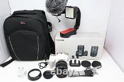 Canon EOS 200D Camera DSLR 24.2MP with 18-55mm, Rhode Microphone + U-Mount