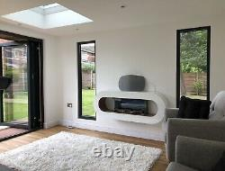 Evonic Nimbus Modern Electric wall mounted fire with e-touch control Unit