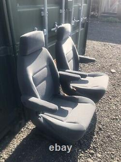 Fold Flat Twin Arm Captain Seats Mounted On Mk1 Movano/master Bases