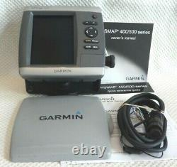 GARMIN GPSMAP 521 CHART PLOTTER MARINE GPS UNIT with POWER COVER MOUNT MANUALS