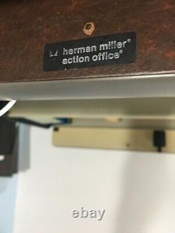 Herman Miller Action Office system Wall mounted desk, Pinboard and Storage