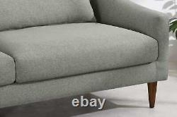 MADE. Com Herton Mountain Stylish Grey Wood Wool Three Seater Sofa RRP £599