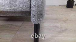 MADE. Com Malini Mountain Grey Weave Three Seater Sofa RRP £799