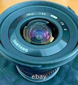 Samyang 12mm F2.0 NCS CS Ultra Wide Angle Lens for Sony E Mount Black F2.0/12mm