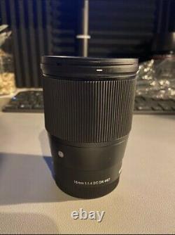 Sigma 16mm f/1.4 DC DN Contemporary Lens for Sony E-mount Cameras
