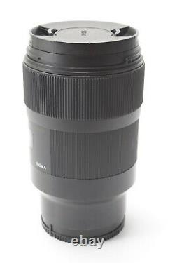 Sigma 35mm f/1.4 DG Art for Sony E / FE Mount With Front and Rear Lens Caps