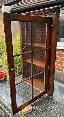 Solid oak wall-mounted corner unit