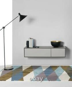 Stretto Wall Mounted Media Unit / TV Stand In Grey From made. Com