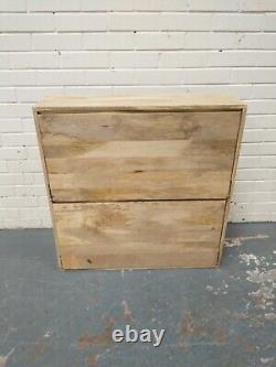 Swoon Mosby Stylish Natural Mango Wood Wall Mounted Shoe Rack RRP £329