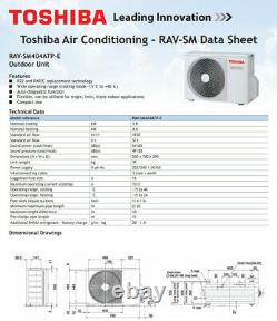 Toshiba Air Conditioning Unit. Heat Pump. Wall Mount. Heating/Cooling. Ready Gassed