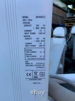 Air Con Fujitsu Asya09lcc/aoyr24lcc Unité De Climatisation Murale Blanche