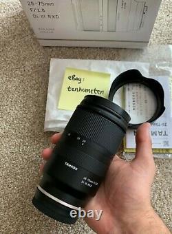 Boxed Tamron 28-75mm DI III F/2.8 Sony E Mount Lens- Pristine Cond- Difficilement Utilisé