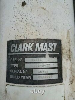 Clarke Mast Wt26-9-tc Mast Unit Et Trolley System Pour Montage Sur Le Toit Télescopique