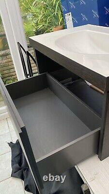 Duravit L Cube C-bonded Mur-monté Unité De Vanité De Tiroir 800mm