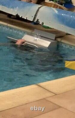 Endless Pool Swim Machine Deck Mount 5hp Fastlane Unit En Argent Acrylique