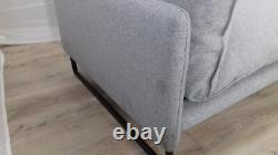Fait. Com Malini Mountain Grey Weave Trois Seater Sofa Prc £799
