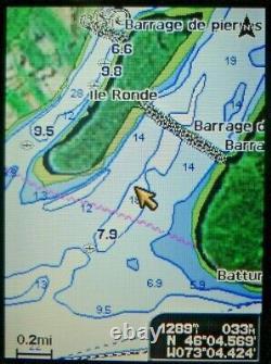Garmin Gpsmap 521 Cart Plotter Marine Unite Gps Avec Manuels De Couverture De Pouvoir