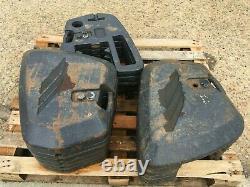 Mccormick Tractor 45kg Poids Avant X 16 Unités C/w Bloc De Montage Prêt À S'adapter