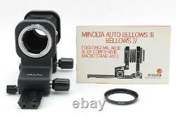 Rare Mint! Minolta Auto Bellows IV MD Mount Macro Camera Lens Unit Du Japon