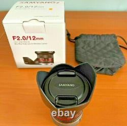 Samyang 12mm F2.0 Ncs Cs Objectif À Angle Ultra Large Pour Sony E Mount Black F2.0/12mm