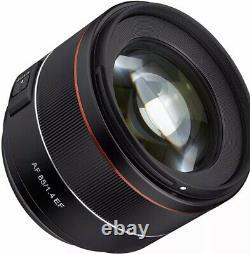 Samyang Objectif F1.4 Ef 85 MM Pour Appareil Photo Reflex Canon Ef Mount. Condition Prisine