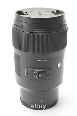 Sigma 35mm F/1.4 Dg Art Pour Sony E / Montage Fe Avec Bouchons Avant Et Arrière
