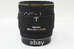 Sigma 50mm Macro Lens F/2.8 Dg, Fixe, Sharp Pour Sony A-mount. Très Bonne Cond