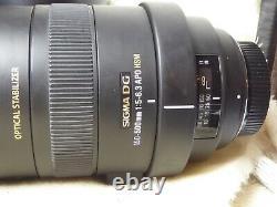 Sigma Dg 150-500mm F/5-6.3 Apo Dg Os Hsm Camera Lens Nikon F Mount Près De La Menthe
