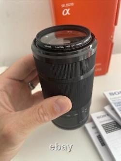 Sony E-mount 55-210mm Téléphoto Lentille F4.5-6.3 Oss Sel55210 Twice Utilisé