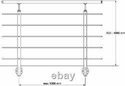 Système De Rails En Acier Inoxydable 1,5m Pour Usage Intérieur Ou Extérieur
