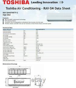 Unité De Climatisation Toshiba. Thermopompe. Mont Mural. Chauffage/refroidissement. Gazé Prêt