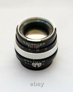 Voigtlander Color Heliar Sl 75mm F/2.5 Lentille Rare Nikon F Montage Impeccable